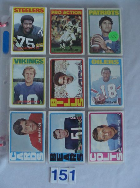 (34 DIFF.) 1972 TOPPS FOOTBALL ROOKIES