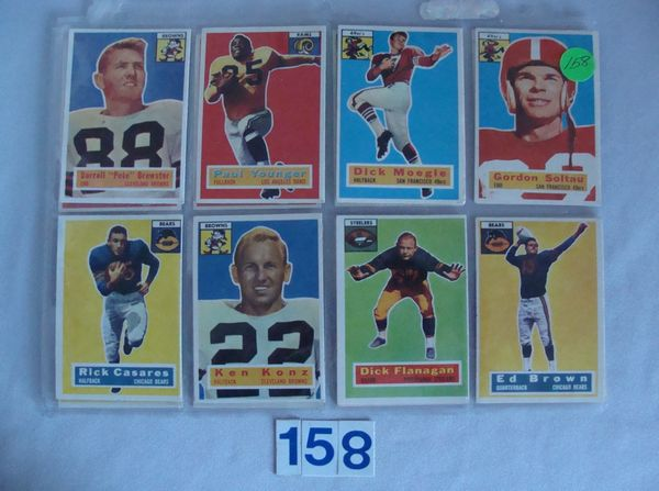 (16 DIFF.) 1956 TOPPS FOOTBALL CARDS -