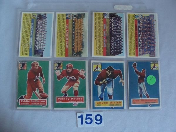 1955-1956 TOPPS FOOTBALL CARDS: