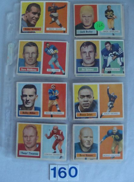 (16 DIFF.) 1957 TOPPS FOOTBALL CARDS: