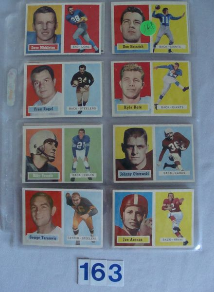 (16 DIFF.) 1957 TOPPS FOOTBALL CARDS -