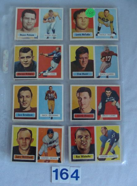(13 DIFF.) 1957 TOPPS FOOTBALL CARDS -