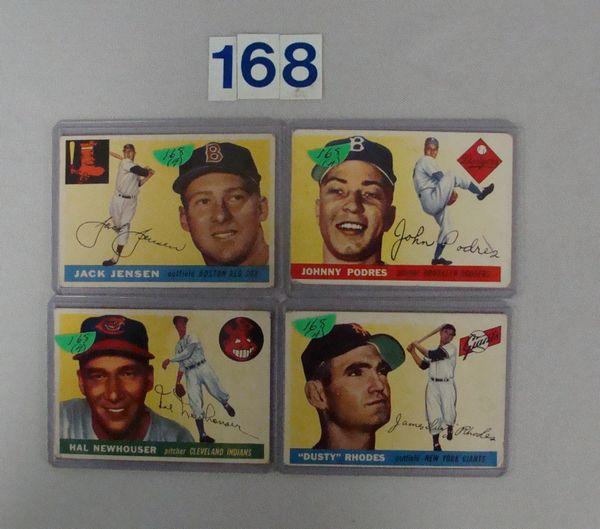 1955 TOPPS BASEBALL #1, 24, 25 & 200 - VG-VG/EX