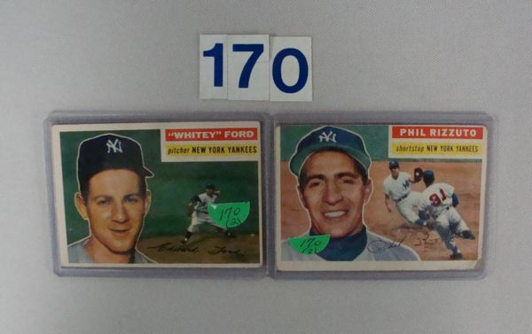 1956 TOPPS #113 PHIL RIZZUTO - FAIR