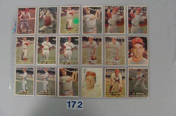 1957 TOPPS PHILA. PHILLIES (16 CARDS)