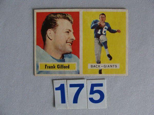 1957 TOPPS #88 FRANK GIFFORD (H.O.F.),