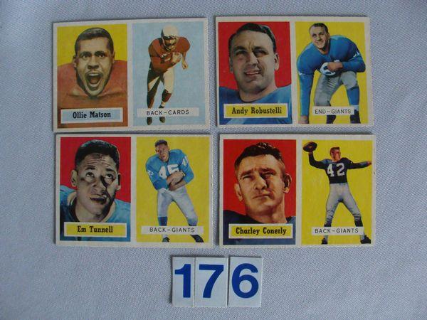 1957 TOPPS: #26 O. MATSON, #35 E. TUNNELL,