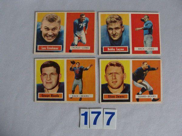 1957 TOPPS: #20 L. CREEKMUR, #31 G. BLANDA,