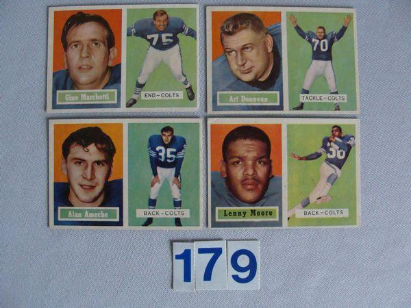 1957 TOPPS #5, 53, 65 A. DONOVAN