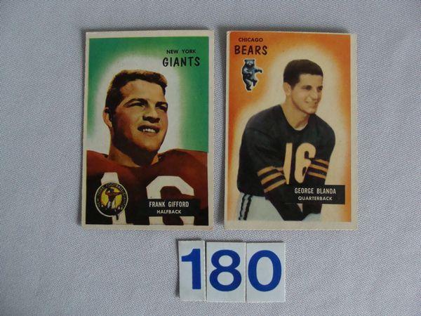 1955 BOWMAN #7 FRANK GIFFORD -