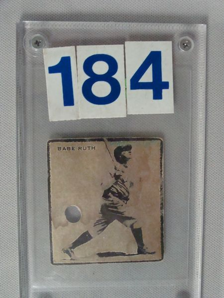 1928 (?) BABE RUTH CARD COUPON,