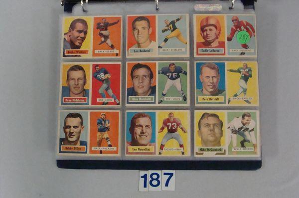 1957 TOPPS FOOTBALL (NEAR) CARD SET,
