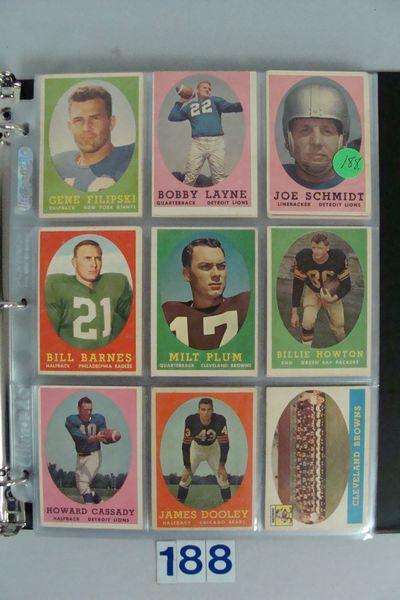 1958 TOPPS FOOTBALL (NEAR) CARD SET,