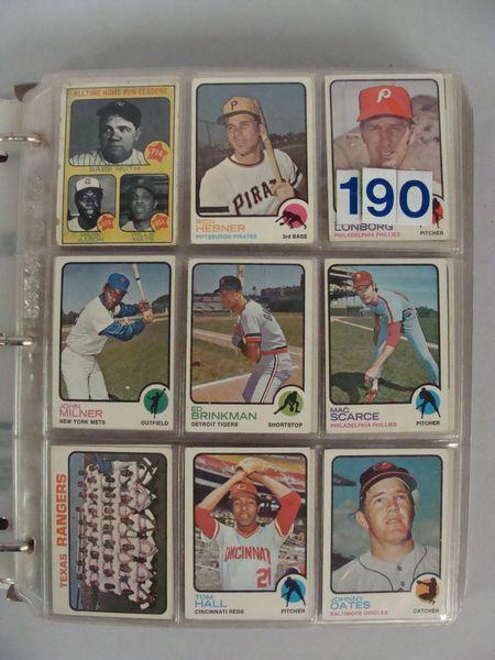 1973 TOPPS BASEBALL CARD NEAR SET -