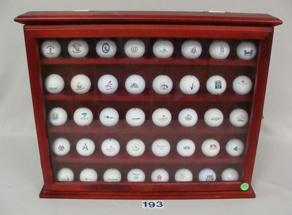 WALL MOUNTED GOLF BALL DISPLAY CASE