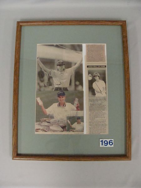 FRAMED NEWSPAPER CLIPPINGS WITH PHOTOS