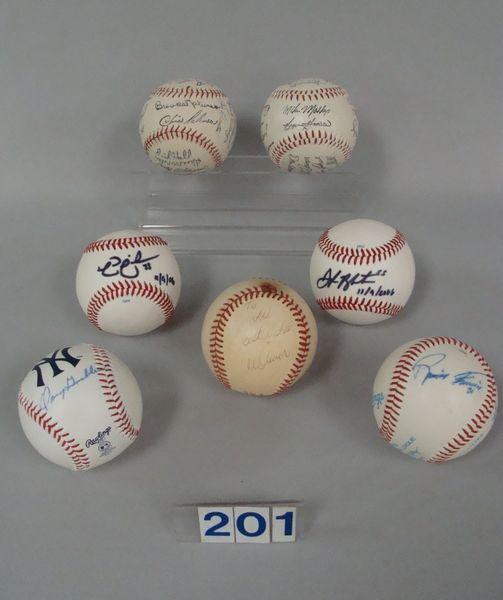 BOX OF BASEBALLS INCLUDG. FIVE WITH