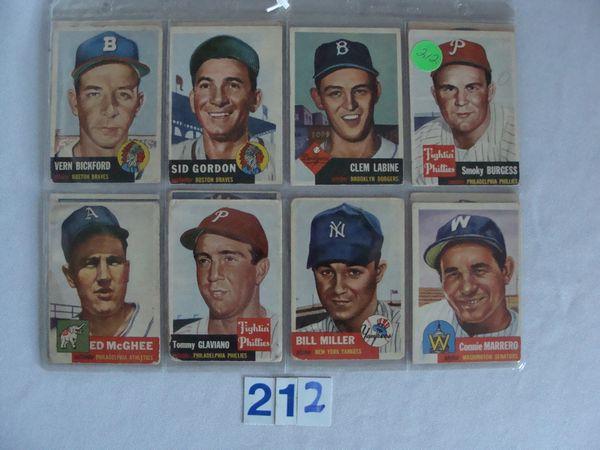 (4) 1952 TOPPS BASEBALL CARDS: