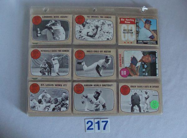 (99 DIFF.) 1968 TOPPS BASEBALL CARDS