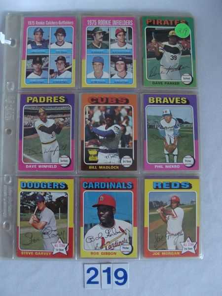 (32 DIFF.) 1975 TOPPS BASEBALL CARDS