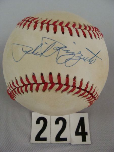 PHIL RIZZUTO AUTO'D BOBBY BROWN