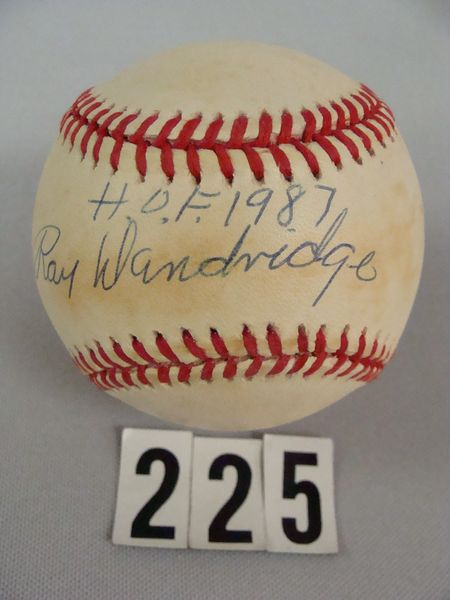 RAY DANDRIDGE AUTO'D WILLIAM WHITE