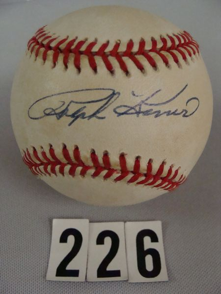 RALPH KINER AUTO'D WILLIAM WHITE BASEBALL