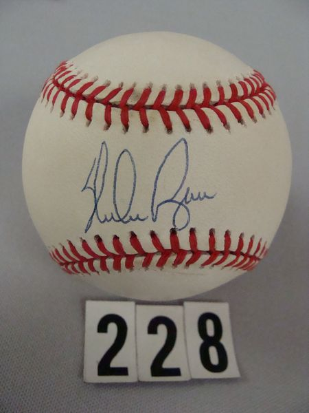 NOLAN RYAN AUTO'D BOBBY BROWN BASEBALL
