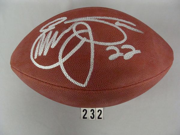 WILSON NFL FOOTBALL AUTO'D IN SILVER