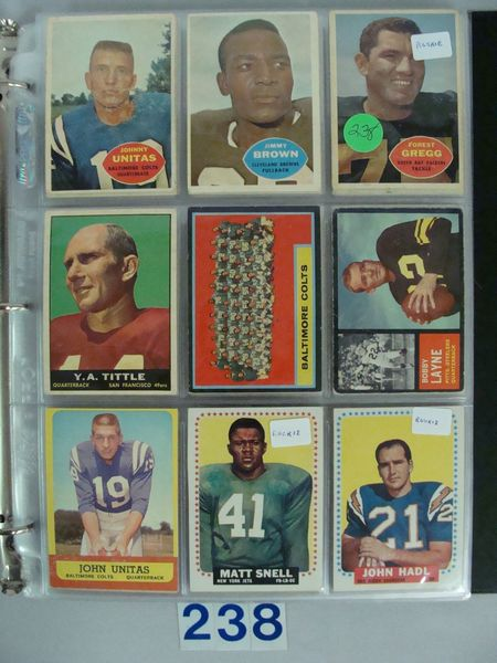 (131 DIFF.) 1960-1964 FOOTBALL CARDS