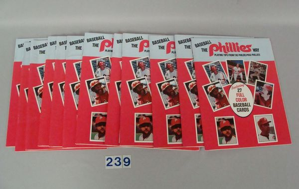LOT OF (15) 1978 BOOKLETS 'BASEBALL THE PHILLIES