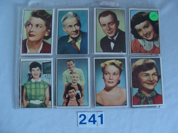 (16 DIFF.) 1953 BOWMAN T.V. & RADIO STARS OF