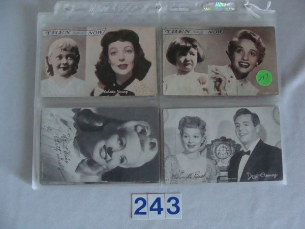 LOT OF (20) ACTORS & ACTRESS EXHIBIT CARDS