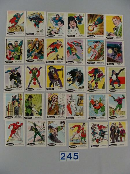 1978 TAYSTEE SUPER HEROES STICKER SET