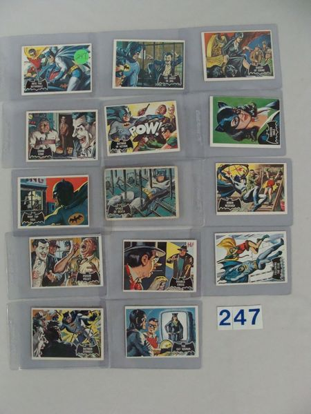 (14 DIFF.) 1966 TOPPS BATMAN CARDS -