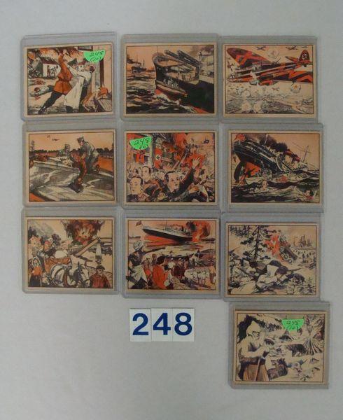 (3) 1939 GUM INC. WAR NEWS PICTURE CARDS: