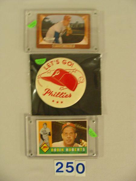 (3 PCS) 1955 BOWMAN #171 R. ROBERTS