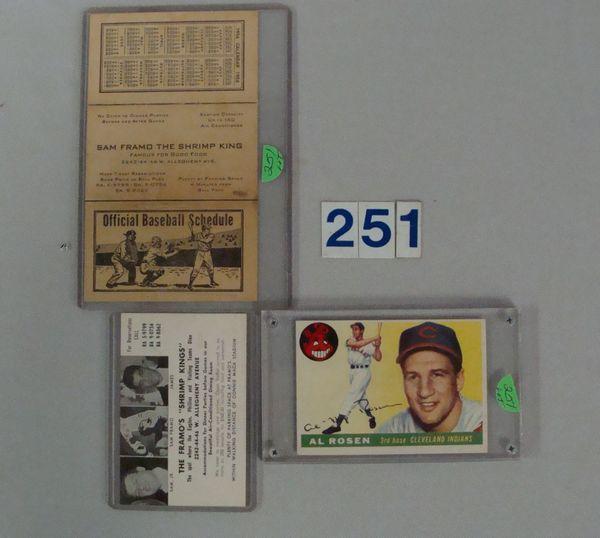 (3 PCS.) 1955 TOPPS #70 AL ROSEN - EX+,