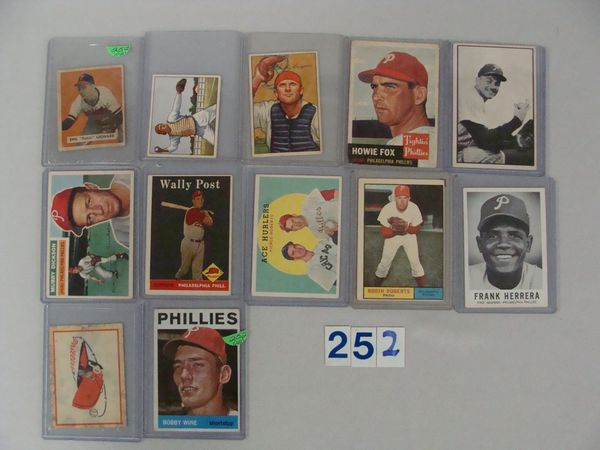 (12 DIFF.) PHILA. PHILLIES CARDS FROM 1949