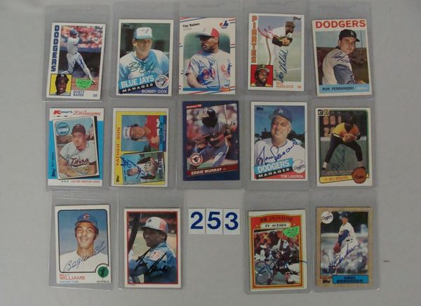 (14) AUTOGRAPHED BASEBALL CARDS: