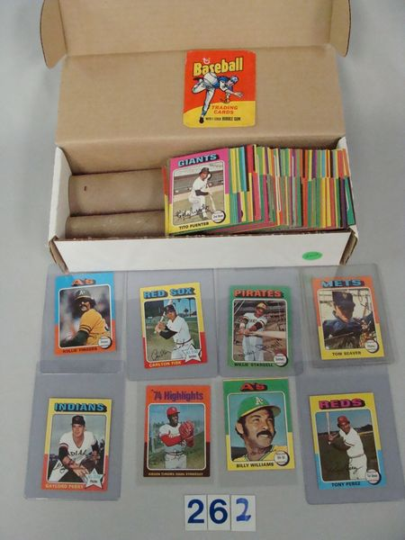 (325+) 1975 TOPPS MINI BASEBALL CARDS,
