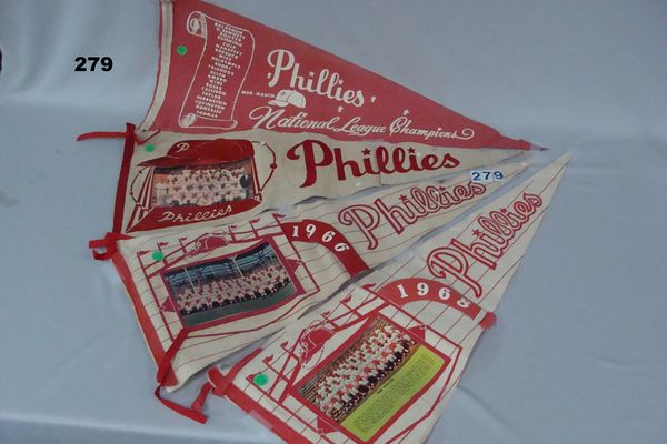 (6) PHILLIES PENNANTS: 1964 NATIONAL LEAGUE