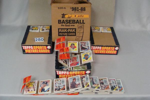 1988 TOPPS FACTORY CASE OF BASEBALL RACK