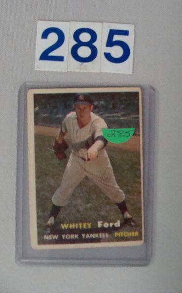 1957 TOPPS #25 WHITEY FORD - VG/EX