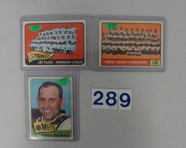 1961 & 1965 TOPPS N.Y. YANKEES TEAM CARDS