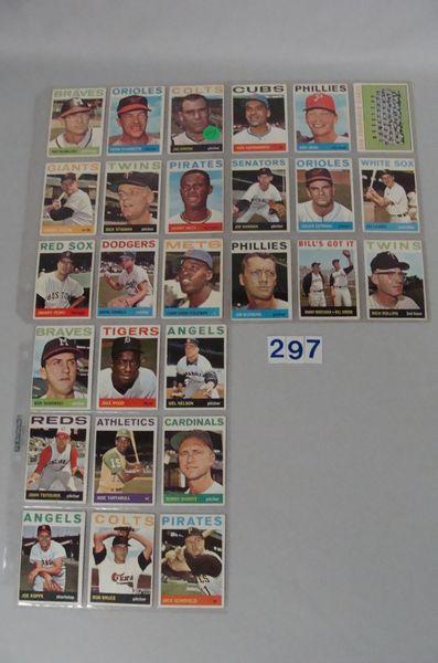 (54 DIFF.) 1964 TOPPS BASEBALL CARDS