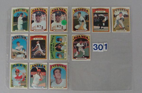 (176 DIFF.) 1972 TOPPS BASEBALL CARDS
