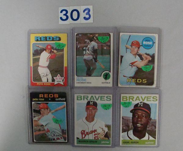 1964 TOPPS #300 H. AARON & #400 W. SPAHN -