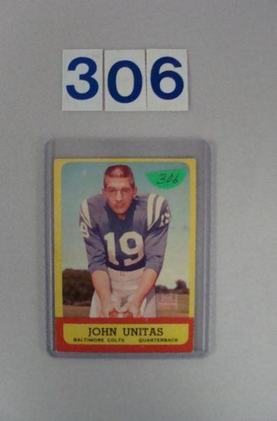 1963 TOPPS #1 JOHN UNITAS - VG/EX+
