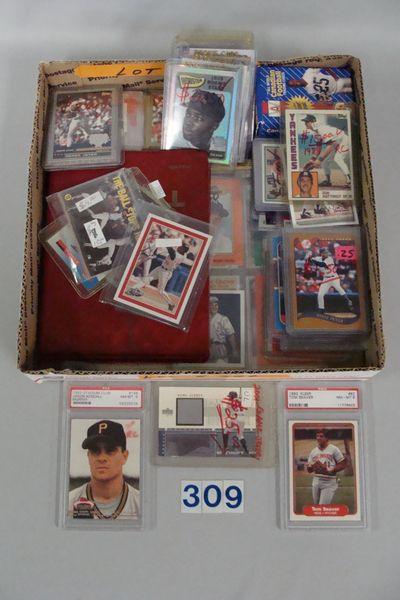 GRAB BOX OF BASEBALL CARDS. 1980'S & 1990'S,